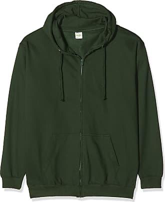Awdis Just Hoods Mens Zoodie Hoodie, Green (Forest Green), X-Large