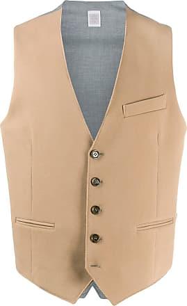 Eleventy woven sleeveless waistcoat - NEUTRALS