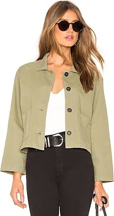 Velvet Magdalin Cropped Jacket in Army