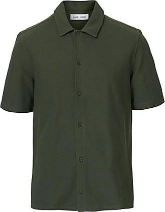 Samsøe & Samsøe Kvistbro Organic Cotton Short Sleeve Shirt Thyme