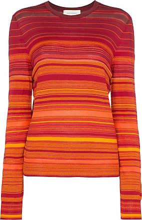 Wales Bonner Camiseta listrada mangas longas - Vermelho