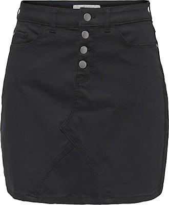 Jacqueline de Yong Ladies High Waisted Button Front Mini Skirt Black M