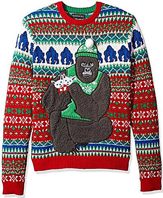 Blizzard Bay Mens Gorilla with Kittens Ugly Christmas Sweater, XX-Large