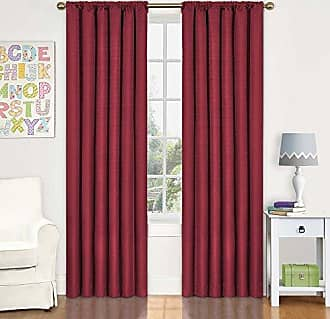 Eclipse Blackout Curtains for Bedroom - Kendall 42 x 63 Insulated Darkening Single Panel Rod Pocket Window Treatment Living Room, Chili