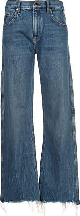 Khaite Calça jeans cropped com efeito destroyed - Azul