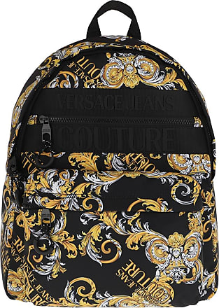 Versace Jeans Couture Backpacks - Men Macrologo Backpack Black/Gold - black - Backpacks for ladies