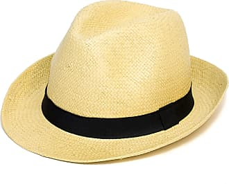 Hat To Socks Woven Straw Style Trilby Hat (One Size, Beige)