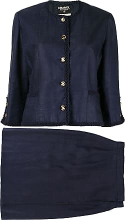Chanel two-piece skirt suit - Blue