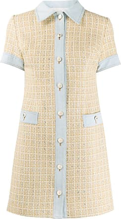 Sandro Mella embroidered mini dress - NEUTRALS