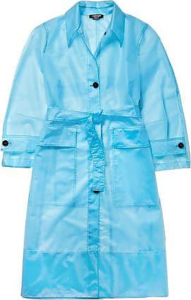 CALVIN KLEIN 205W39NYC Calvin Klein 205w39nyc Woman Belted Plastic Raincoat Light Blue Size 36