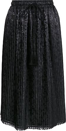 À La Garçonne pleated jacquard skirt - Black