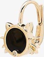 Yvonne Léon Womens 9k Yellow Gold Cat Diamond Earring