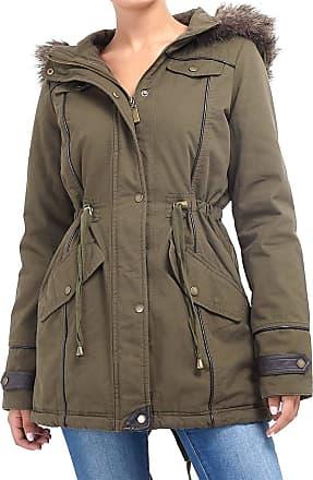 Brave Soul Ladies  Military Autum Coat Parka Jacket Fishtail Black Khaki