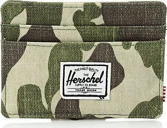 Herschel Herschel Unisexs Charlie Leather RFID Blocking Card Holder Wallet, Frog Camo, One size