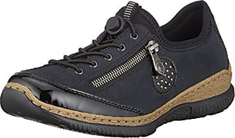 Rieker Damen N3268 Slip On Sneaker, Blau Pazifik Baltik Schwarz 01, 38 d2f32bf81d