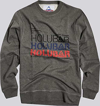 HOLUBAR felpa triple logo bf12 grigio