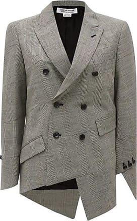 Comme Des Garçons Comme Des Garçons Comme Des Garçons - Glen-check Asymmetric Wool-blend Jacket - Womens - Grey