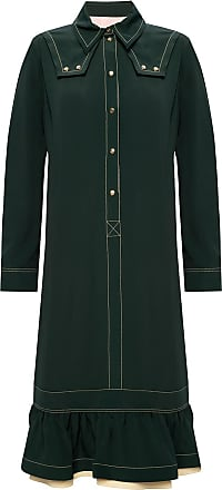 Lanvin Ruffled Dress Womens Green