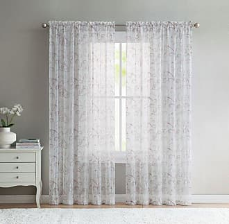 Better Homes & Gardens Embroidered Sheer Window Curtain Panel Dark Gray - EBR-PNL-5495-WD-GV