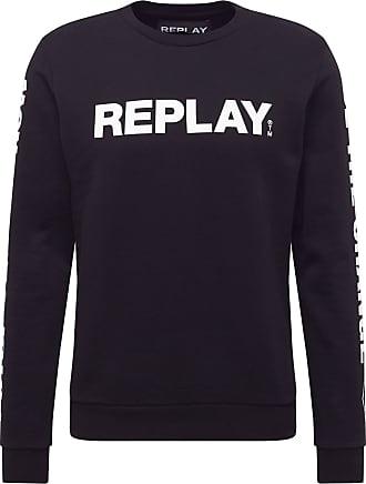 Replay Sweatshirt weiß / schwarz