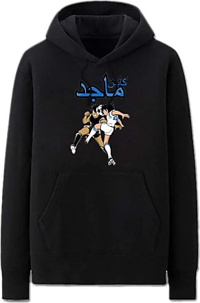 Haililais Captain Tsubasa Pullover Unisex Hoodie Casual Long Sleeve Pullover Couple Comfy Loose Sweatshirt with Pockets Unisex (Color : Black01, Size : Height-1
