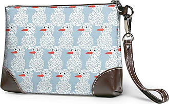 GLGFashion Womens Leather Wristlet Clutch Wallet Merry Christmas Snowman Storage Purse With Strap Zipper Pouch