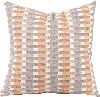 Elizabeth Austin Milan Jester Decorative Pillow Orange/Gray/White - 2-636