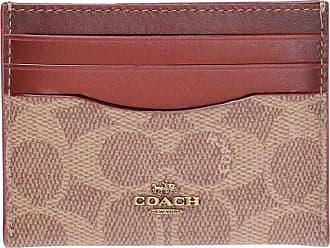 Coach Logo Card Case Womens Brown