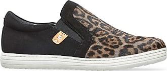 Van Dal Grana Leather Slip on Trainer Pumps - Grey Leopard Print, Size 40 EU
