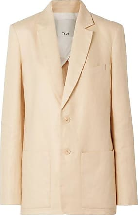 Tibi Oversized Linen Blazer - Peach