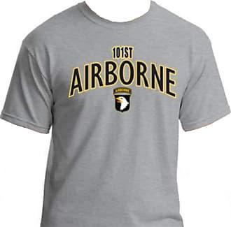 Gildan Gildan U.S. Army 101st Airborne Tshirt. Black, OD Green, or Sports Grey (XXL, Sports Grey)