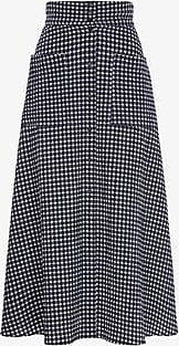 Three Graces London Anna Skirt in Navy Gingham