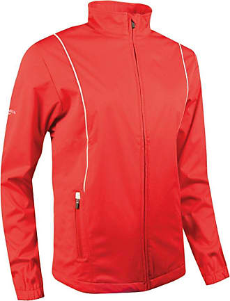 Glenmuir Ladies Zip Front Piped Wind Golf Jacket Crab Apple/Ivory L