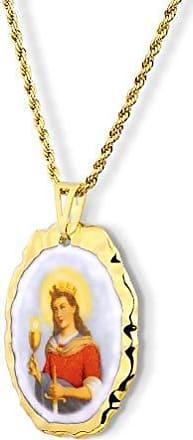 Design Medalhas Pingente Medalha Santa Bárbara Ouro