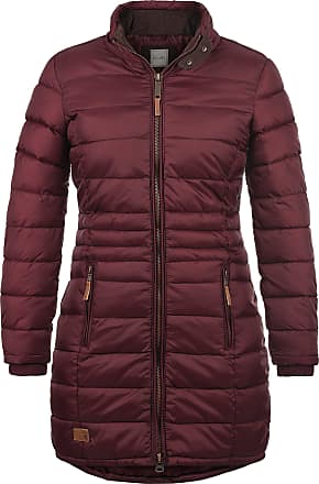 Blend Carlotta Womens Quilted Coat Parka Outdoor Jacket with Funnel Neck, Size:L, Colour:Zinfandel (73006)