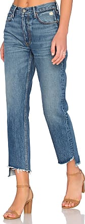 GRLFRND Helena Straight Leg Jean in Blue
