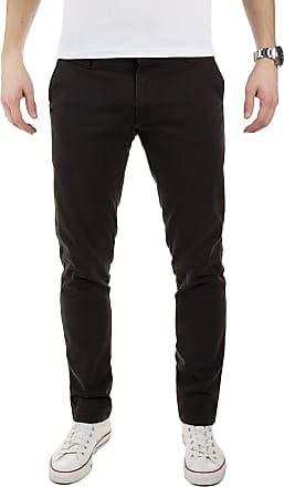 Yazubi Mens Trousers Chinos Pants Merlin II - Skinny Slim Dark Jet Matte, Black (1000), W29/L34