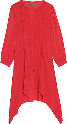 Vix Vix Paula Hermanny Woman Flora Pintucked Voile Coverup Red Size M