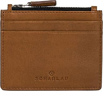 Scharlau Perls Credit Card Holder Cognac