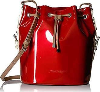 A|X Armani Exchange Bucket Bag, leatherbeige/red/Brown 221