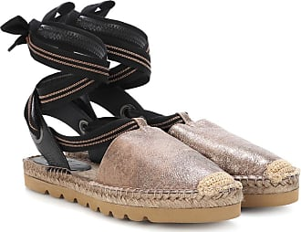 Brunello Cucinelli Metallic leather espadrilles