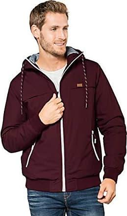 28b6e60158c9 Eight2Nine Herren Winterjacke mit Kapuze   Sportliche Basic Jacke warm  gefüttert Dark-red XL