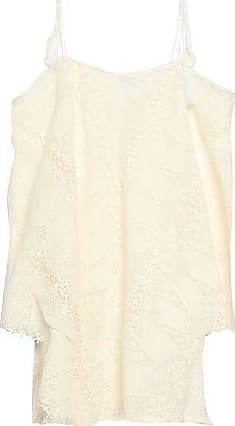 Eberjey Eberjey Woman Cold-shoulder Crocheted Cotton Coverup White Size XS/S