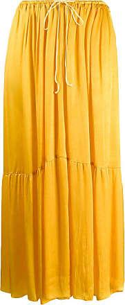 Forte_Forte tiered midi skirt - Yellow