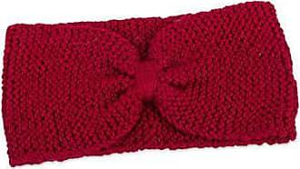 Novica 100% alpaca headband, Crimson Bow