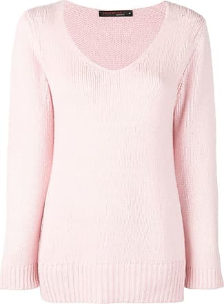 Incentive! Cashmere scoop neck knitted jumper - Rosa