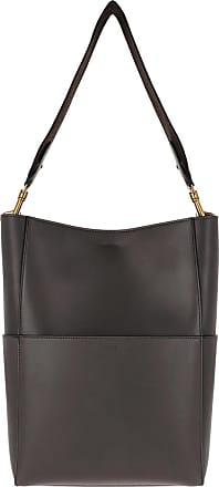 Celine Sangle Bucket Bag Leather Grey Beuteltasche grau