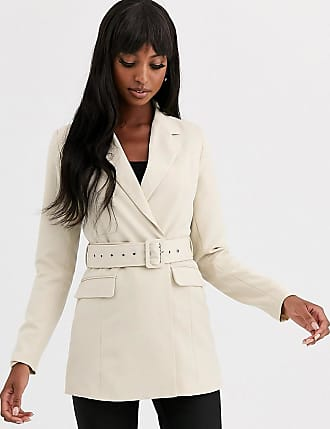 Y.A.S. Tall Arina belted blazer-Cream