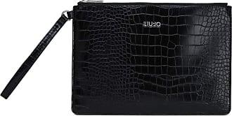Liu Jo Liu Jo Crocodile Effect Clutch Bag, Black (Black) - AA0010E0084 22222