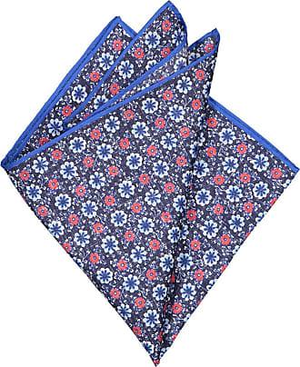 Altea Übergröße : Altea, Seiden-Einstecktuch im Blumenmuster in Blau für Herren
